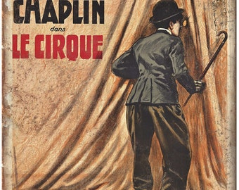 """Charlie Chaplin Le Cirque Circus Poster 10"""" X 7"""" Reproduction Metal Sign ZH113"""