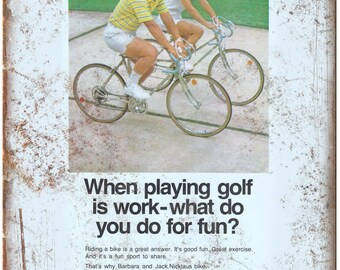 "Murray Ohio Mfg. Co. 10 Speed Bike Vintage Ad 10""x7"" Reproduction Metal Sign B17"
