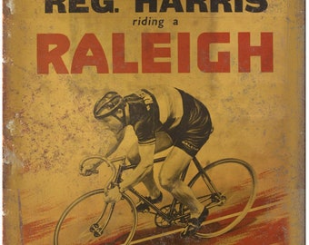 "Raleigh Reg. Harris Vintage 10 Speed Bike Ad 10""x7"" Reproduction Metal Sign B06"