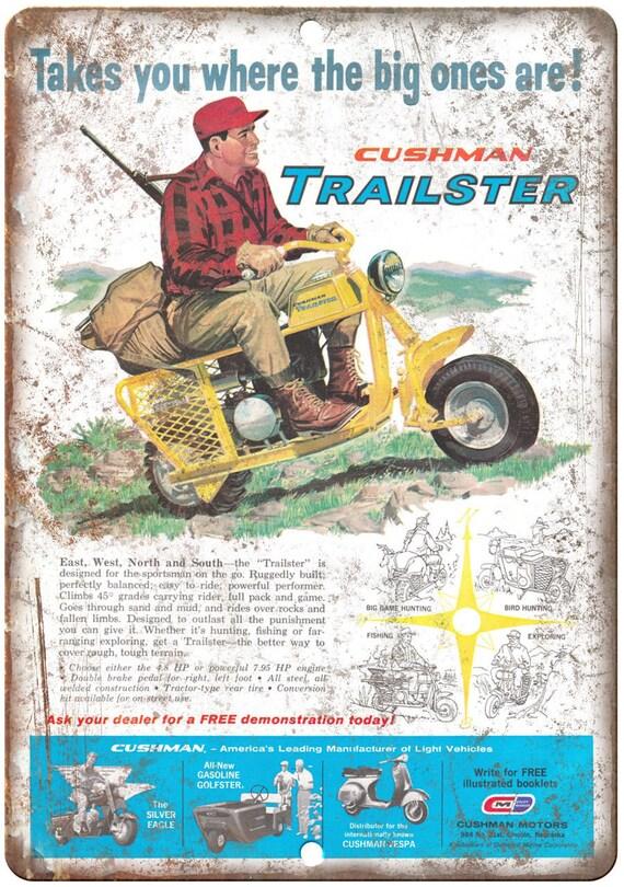 """Cushman Trailster Mini vélo Ad 10 """"x 7"""" Reproduction signe en métal A335"""