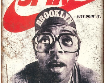 "Spike Lee Nike Just Doin It Vintage Ad 10"" X 7"" Reproduction Metal Sign ZE54"