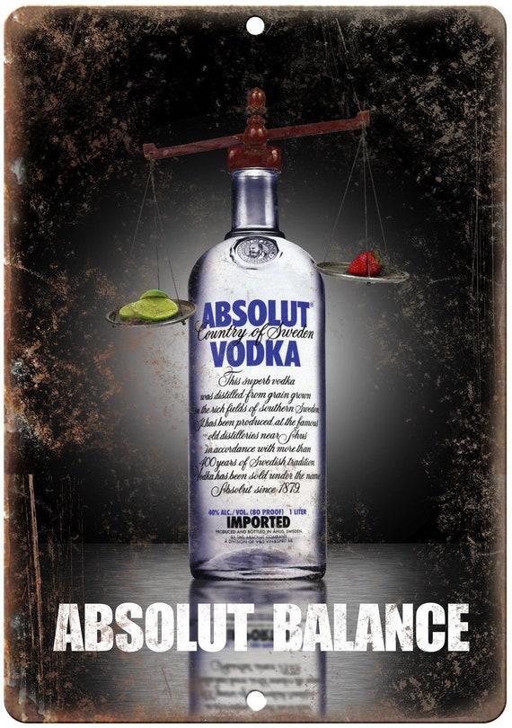 Absolut Vodka liqueurs Vintage Ad Reproduction signe en métal E102
