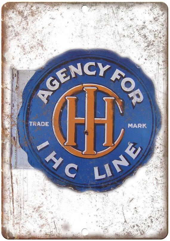 IHC ligne Agence porcelaine Look Reproduction signe en métal U125