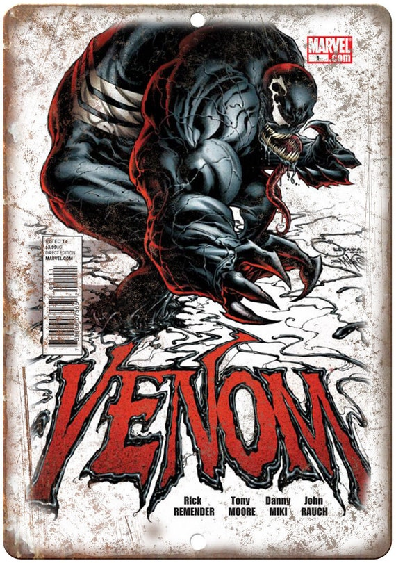 Comic Book Wall Art Part - 17: Venom Comic Book Wall Art Marvel Comics 10 x 7 | Etsy
