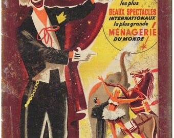 """Cirque d Hiver France Circus Poster 10"""" X 7"""" Reproduction Metal Sign ZH03"""