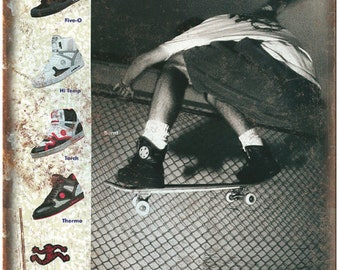 """Airwalk Shoes Jeremy Klein Skateboard Ad 10"""" x 7"""" Reproduction Metal Sign"""