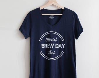 Official Brew Day Shirt. Craft Beer Shirt, Homebrew, Homebrewer Shirt, Beer Gear, Craft Beer Gift, Beer Girl Gift, Beer Geek