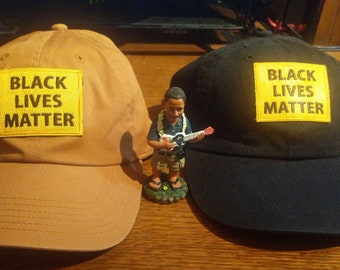 Black Lives Matter -- Baseball Hats, Patches, Buttons, and Fridge Magnets, BLM