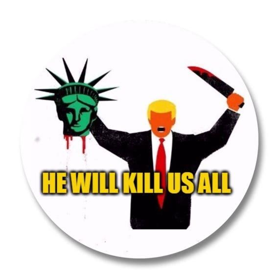 "RESIST NOT MY PRESIDENT  Anti-Trump 1.75/"" X 2.75/"" Rectangle Button"