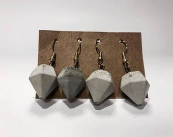 Diamond Concrete Earrings