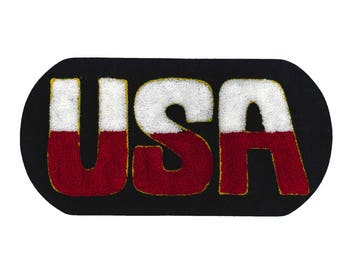 "Patch iron Terry ""USA"""