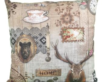 Pillow square vintage deer