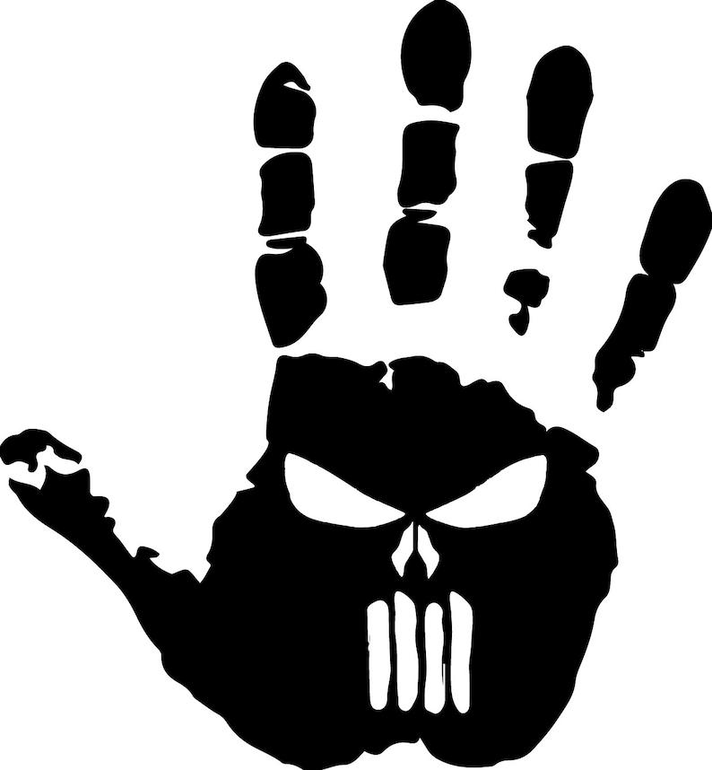 STAR Jeep Punisher Skull Decal Vinyl Sticker Wrangler Rubicon