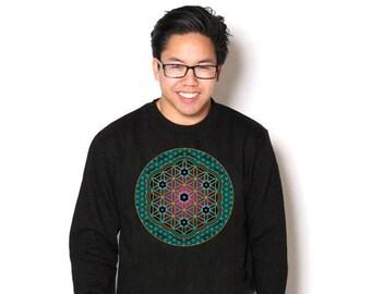 Circle of Life Celestial Sacred Geometry Unisex Geometric Art Pullover Sweatshirt