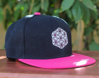 6ab2828b8c0 The Circle of Life Sacred Geometry Hot Pink Snapback Hat