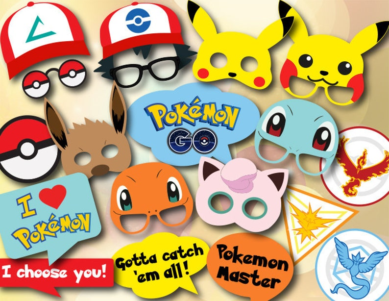 photo regarding Printable Pokemon identified as Printable Pokemon Transfer Image Booth Props, Pokemon Birthday Social gathering Image Booth Props, Immediate Down load Pokemon Shift Occasion Photograph Booth Props 0417
