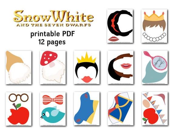 image relating to Snow White Printable named Printable Snow White Princess Picture Booth Props, Snow White and 7 Dwarve Picture Booth Props, Prompt Obtain Snow White Bash Props 0400