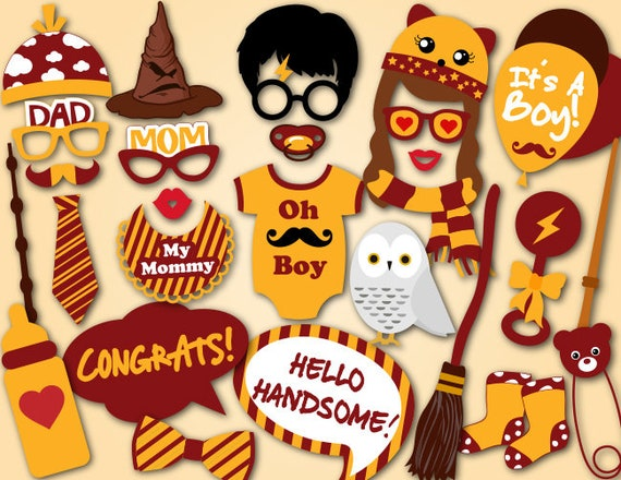graphic regarding Harry Potter Printable Props known as Printable Its a boy Youngster Shower Props, Harry Potter Encouraged Child Shower Image Booth Props, Boy Child Shower Picture Booth Props 0058