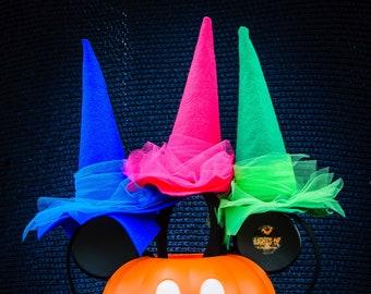 Disney Fairy Hat, Fairy Headband, Sleeping Beauty, Flora Fauna and Merryweather, Witch Hats, Fairy Princess Hat, Halloween Costume Hat
