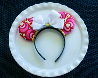 Mickey Ears Headband, Mickey Mouse Ears, Minnie Mouse Ears, Minnie Ears, Disney Ears, Hot Pink, Pink Ears