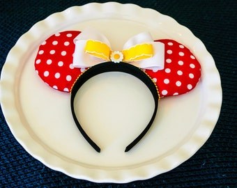 Mickey Ears Headband, Polka-dot Minnie Ears, Mickey Mouse Ears, Minnie Mouse Ears, Disney Ears, Minnie Ears, Red and White, Daisy