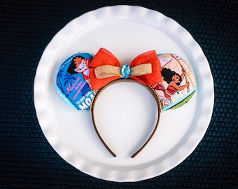 Mickey Ears Headband, Disney Princess, Moana Ears, Mickey Mouse Ears, Minnie Ears, Minnie Mouse Ears, Disney Ears