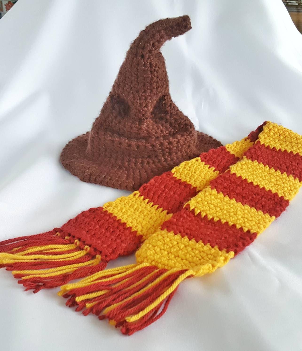 Crochet sorting hat newborn sorting hat baby photo prop  f6ef006ce67