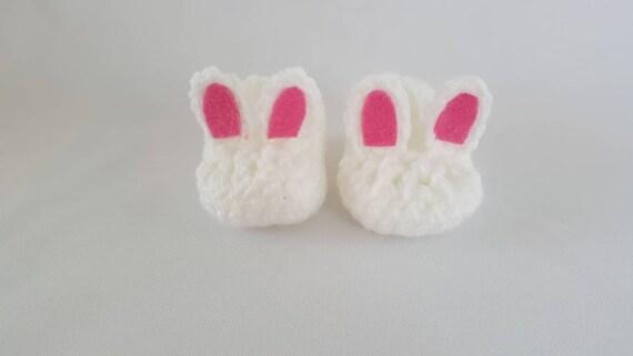 Häkeln Sie Oster Bunny Hausschuhe Häkeln Sie Hase Babyschuhe Etsy