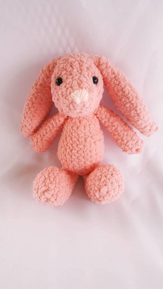Coral Pink Häkeln Ostern Hase Plüschtier Stofftier Hase Häkeln Etsy
