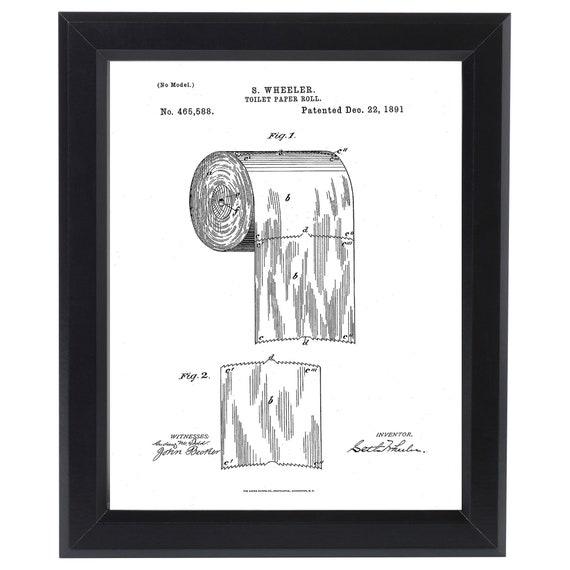 Erste Toilettenpapier Us Patent Kunstdruck Fertig zu Rahmen Vintage 1891