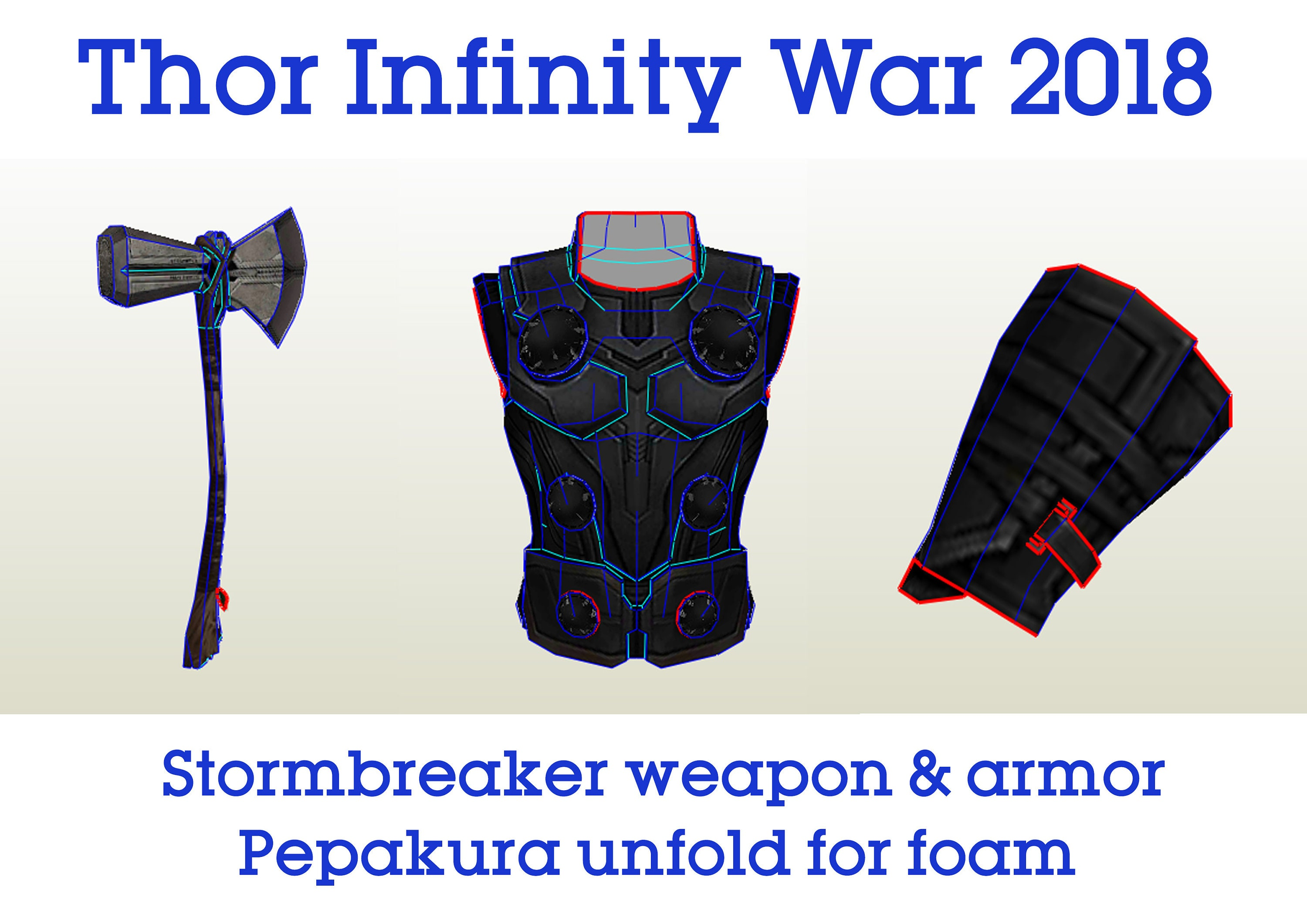 Thor Stormbreaker Weapon Amp Armor Infinity War 2018 Movie