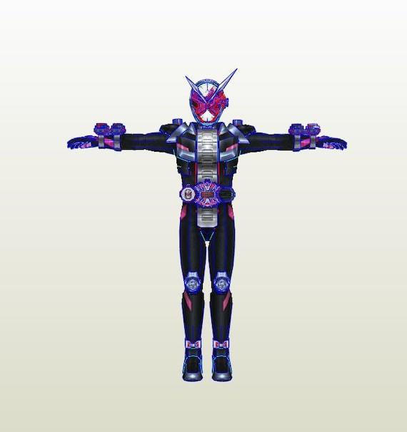 Kamen Rider Zi-O full armor pepakura unfold for foam