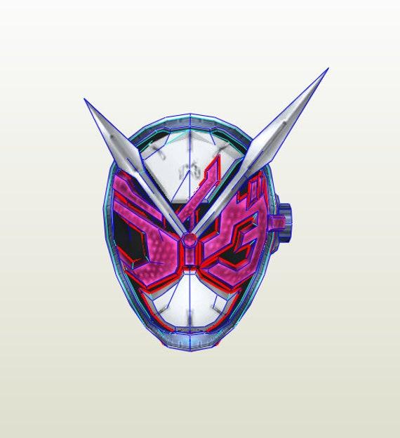 Kamen Rider Zi-O helmet pepakura unfold for foam