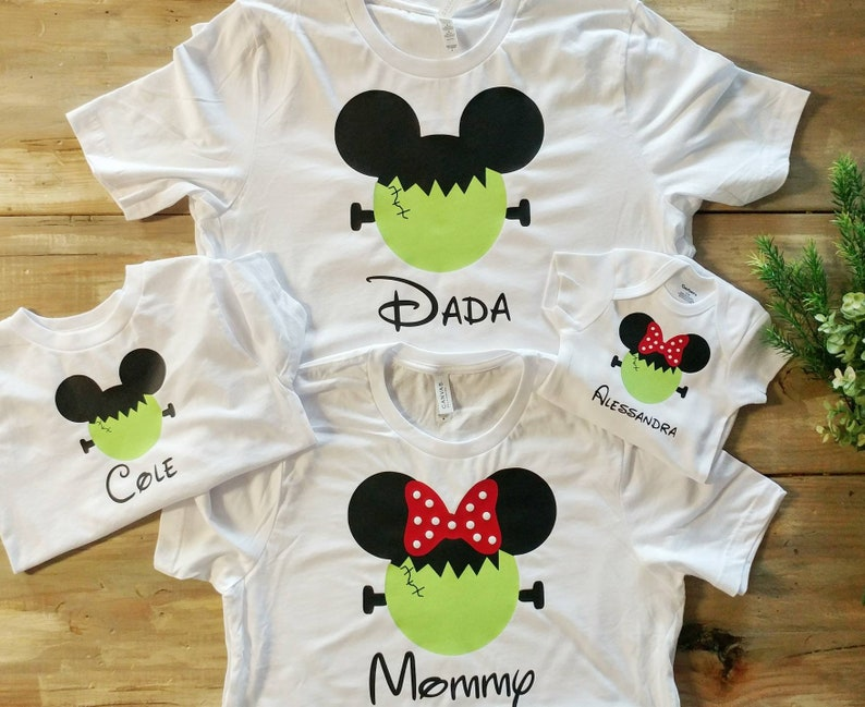 Disney Halloween Shirts Etsy.Disney Halloween Shirts Disney Mickey Frankenstein Shirts Disneyland Family Shirt Disney Family Shirts Matching Halloween Shirts Couple