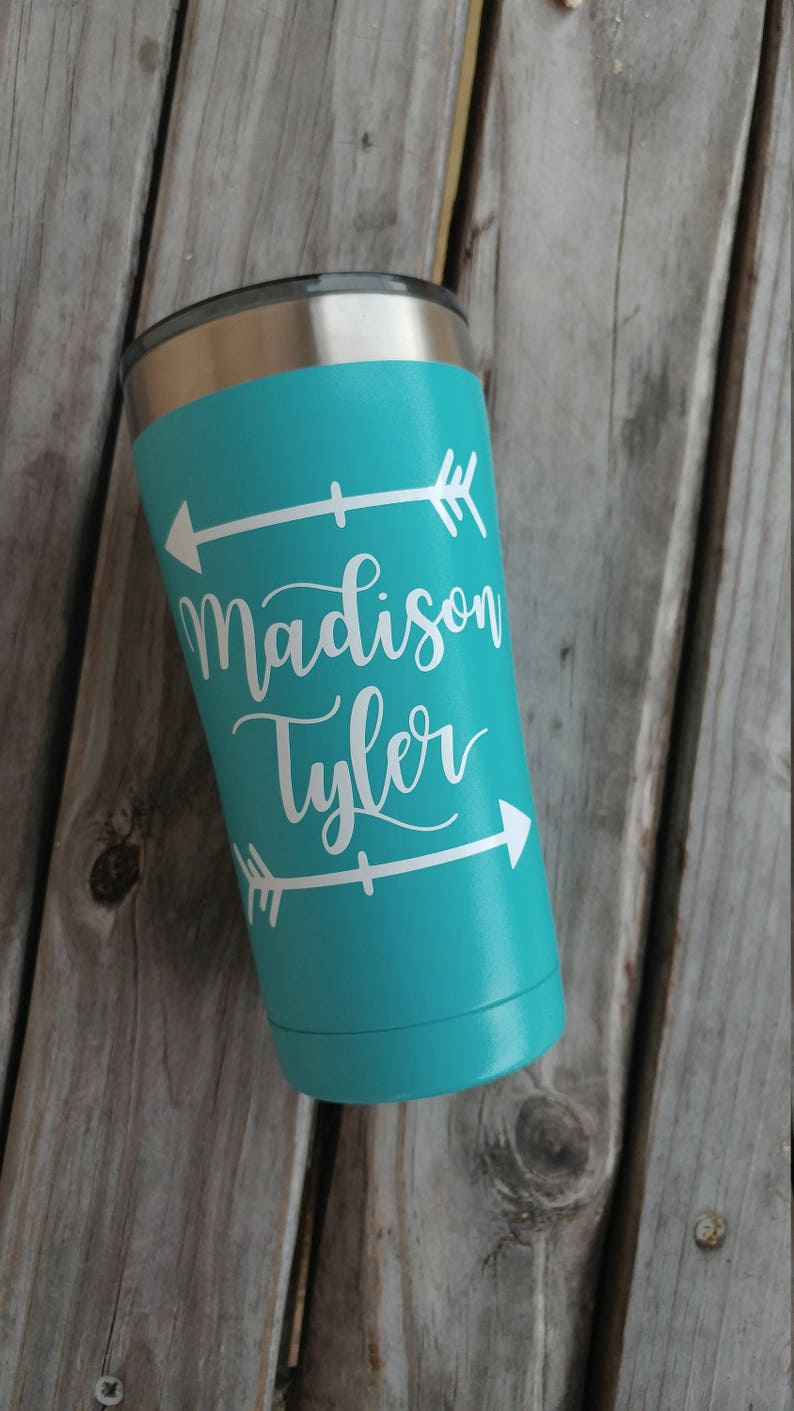 d35eea1b0dd Name decal, yeti decal, ozark trail decal, water bottle decal, wine glass  decal, custom decal, create your own decal, initials decal