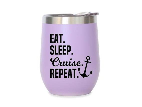 wine glass decal tumbler decal cup decal Coffee * Wine * Sleep * Repeat decal