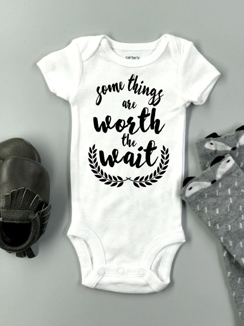 a32cd1755 Some things are worth the wait baby Onesie ® Baby shower | Etsy