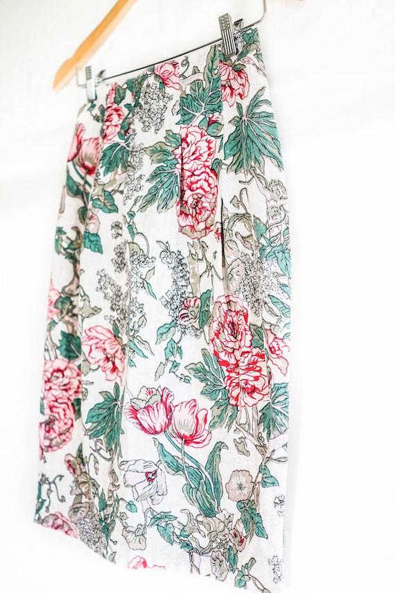 Vintage Clothing  70s Floral Pencil Skirt  Vintage Floral Pencil Shirt  Vintage 70s Women/'s Clothing Pencil Skirt Floral Pattern