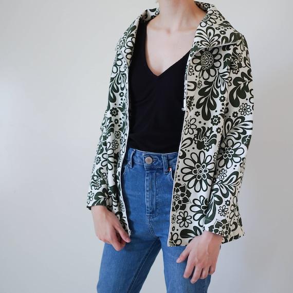 60s Clothing / Vintage Jacket / Vintage Floral Jac