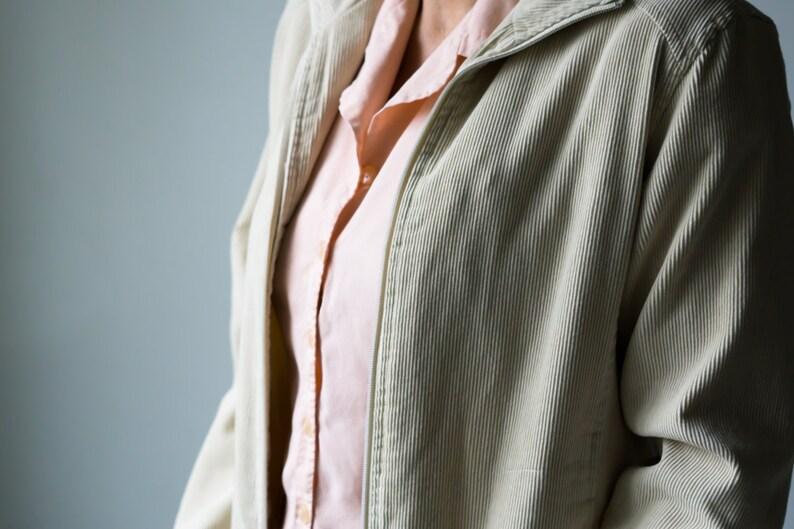 Vintage Jacket / Cream Corduroy Jacket / 90s Corduroy Jacket / image 0