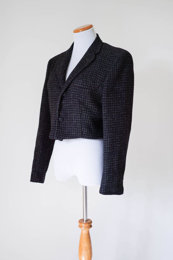 50s Tweed Jacket / Vintage Wool Blazer / 50s Blaze