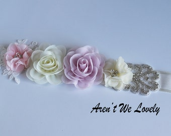 pink belt, bridal belt, blush bridesmaid belt,maternity belt, bridesmaid belt, maternity sash, wedding belt, blush belt, flower belt