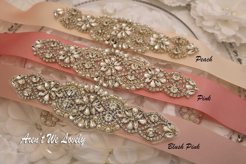 cc48b6600a5e0 Pink Bridal belt Blush Pink sash belt Pink Bridesmaid belt   Etsy