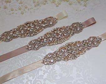 rose gold belt, rose gold bridal belt, bridesmaid belt sash, blush bridal belt, mocha bridal belt, rose gold bridesmaid sash