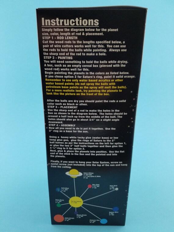 NO PAINT INCLUDED Styrofoam Smoothfoam Solar System Kit