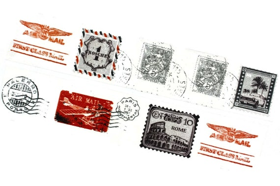 Vintage-Inspired Mail Art Planner Happy Mail Snail Mail for Junk Journal Washi Tape SAMPLE Pen Pal Graph Paper