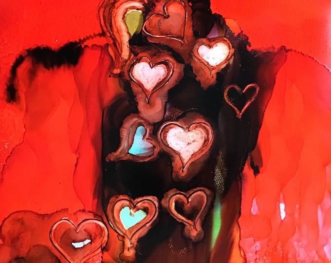 "Heart to Heart 11"" x 14"""
