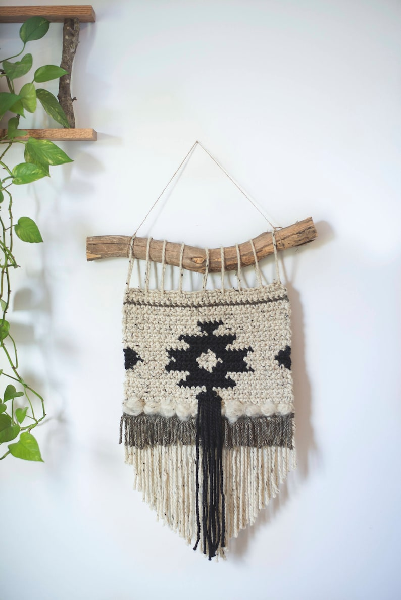 PDF Crochet Pattern for the Geometric Cozy Wall Hanging image 0