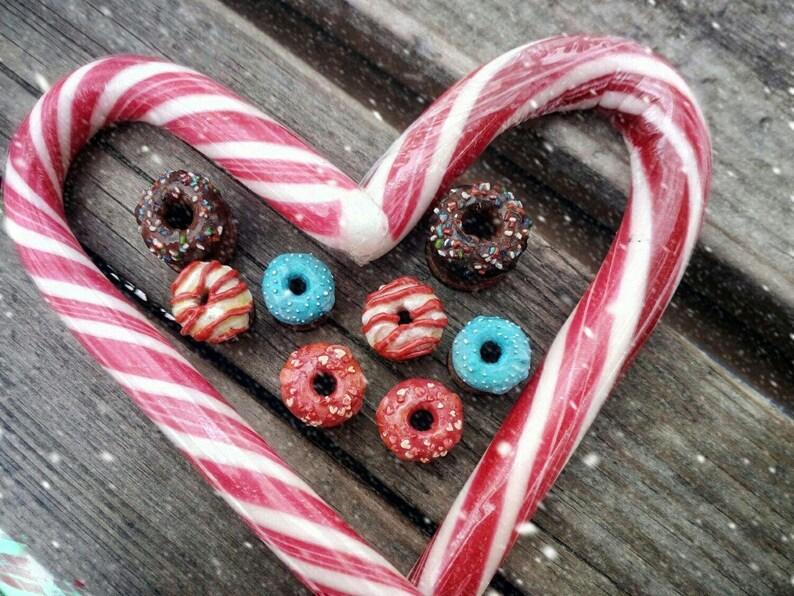 wood plugs donut plugs kawaii plugs christmas plugs