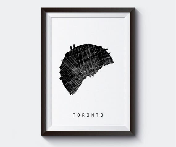 Toronto Canada World Map.Toronto Map Canada Map World Map Maps Black And White Map City Map Minimal Map Gift Art Perfect Gift For Teachers Basic Framed Art